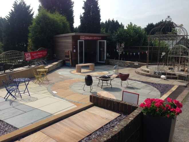 Our paving display area