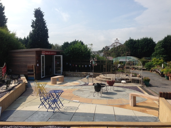 Our paving display area at Ashdown Forest Garden Center