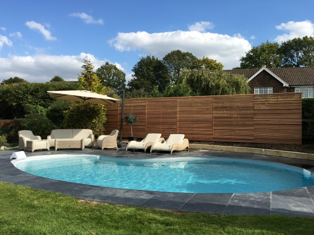 Swimming pool build in Bookham Surrey
