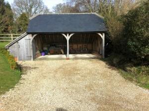 Oak frame garage
